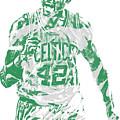 Al Horford Boston Celtics Pixel Art 7 by Joe Hamilton