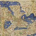 Al-idrisi's World Map, 1154 by Library Of Congress, Geography And Map Division