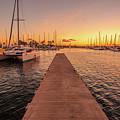 Ala Wai Harbor Sunset by Benny Marty