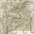 Alabama Antique Map 1891 by Phil Cardamone