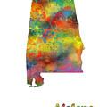 Alabama State Map by Marlene Watson