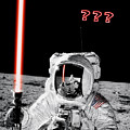 Alan Bean Finds Lightsaber On The Moon by Weston Westmoreland