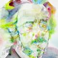 Alan Watts - Watercolor Portrait.3 by Fabrizio Cassetta