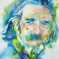 Alan Watts - Watercolor Portrait.4 by Fabrizio Cassetta