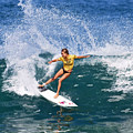 Alana Blanchard Surfing Hawaii by Paul Topp