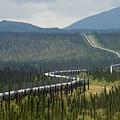 Alaska Pipeline Heading South Thru by Michael S. Quinton