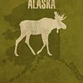 Alaska State Facts Minimalist Movie Poster Art by Design Turnpike