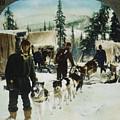 Alaskan Dog Sled, C1900 by Granger
