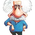 Albert Einstein, Caricature by Gary Brown
