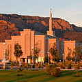 Albuquerque Lds Temple At Sunset 1 by Marie Leslie