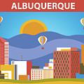 Albuquerque New Mexico Horizontal Skyline by Karen Young