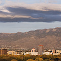 Albuquerque Skyline With The Sandia Mountains In The Background by Jeremy Woodhouse