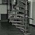 Alcatraz Stairs In Bw by Michiale Schneider