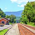 Alderson Train Depot And Tracks Alderson West Virginia by Kerri Farley