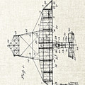 Alexander Graham Bell Airplane Patent Print, Plane Patent Blueprint by Kithara Studio