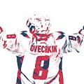 Alexander Ovechkin Washington Capitals Pixel Art 9 by Joe Hamilton