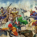 Alexander The Great At The Battle Of Issus  by Peter Jackson