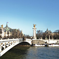 Alexandre IIi Bridge In Paris by Laura Greco