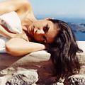 Alexis In Santorini Iv by Andrea Simon