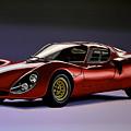 Alfa Romeo 33 Stradale 1967 Painting by Paul Meijering
