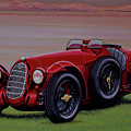 Alfa Romeo 8c 2900a Botticella Spider 1936 Painting by Paul Meijering
