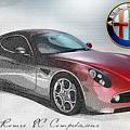 Alfa Romeo 8c Competizione  by Serge Averbukh