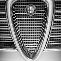 Alfa Romeo Grille Emblem -0635bw by Jill Reger