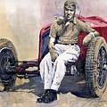 Alfa Romeo Monza Tazio Nuvolari 1932 by Yuriy  Shevchuk