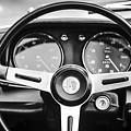 Alfa Romeo Steering Wheel -0904bw by Jill Reger