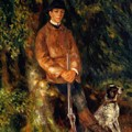 Alfred Berard And His Dog 1881 by Renoir PierreAuguste