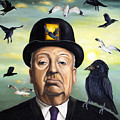 Alfred Hitchcock by Leah Saulnier The Painting Maniac
