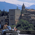 Alhambra At Grenada In Spain by Carl Purcell