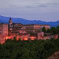 Alhambra Granada Dusk by Joan Carroll