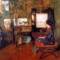 Alice In Studio In Shinnecock by William Merritt