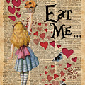 Alice In The Wonderland Eat Me Muffin  by Anna W