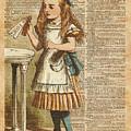 Alice In Wonderland Drink Me Vintage Dictionary Art Illustration by Anna W