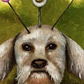 Alien Dog by Leah Saulnier The Painting Maniac