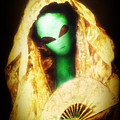 Alien Wearing Lace Mantilla by Gravityx9 Designs