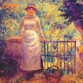 Aline At The Gate Girl In The Garden 1884 by Renoir PierreAuguste