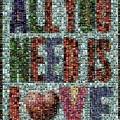 All You Need Is Love Mosaic by Paul Van Scott