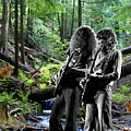 Allen And Steve Jam With Friends On Mt. Spokane by Ben Upham