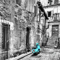 Alley In Arles Selective Color by Mel Steinhauer