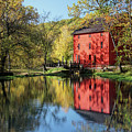 Alley Spring Mill Reflection by Alan Hutchins