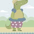 Alligator On The Beach by Pablo Romero