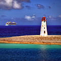 Allure Of The Seas At Nassau Light by Bill Swartwout Fine Art Photography