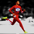 Allyson Felix Ahead Of The Pack by Brian Reaves