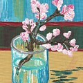 Almond Blossoms In A Glass by Melissa Vijay Bharwani
