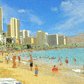 Aloha From Hawaii - Waikiki Beach Honolulu by Peter Potter