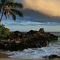 Aloha Naau Sunset Paako Beach Honuaula Makena Maui Hawaii by Sharon Mau