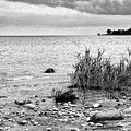 Along Lake Huron Cloudy Day by Mary Bedy